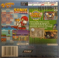 2 Games in 1: Sonic Advance + Sonic Pinball Party [IT] Box Art