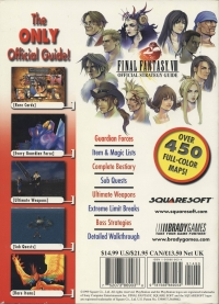 Final Fantasy VIII - Official Strategy Guide Box Art