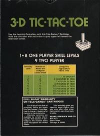 3-D Tic-Tac-Toe (Sears text label) Box Art