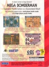 Mega Bomberman Box Art