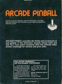 Arcade Pinball (Sears Text Label) Box Art