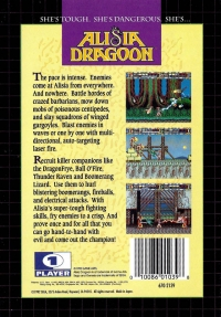 Alisia Dragoon Box Art