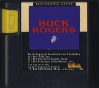 Buck Rogers: Countdown to Doomsday (white cart label) Box Art