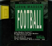 John Madden Football Box Art