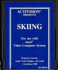 Skiing (Blue Text Label) Box Art