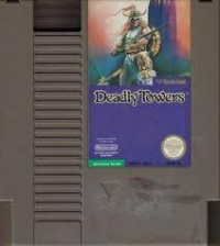 Deadly Towers (5 screw cartridge) Box Art