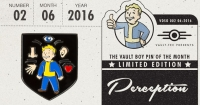 Fallout Vault Boy Pin of the Month - Perception Box Art