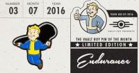 Fallout Vault Boy Pin of the Month - Endurance Box Art