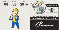 Fallout Vault Boy Pin of the Month - Charisma Box Art
