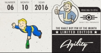Fallout Vault Boy Pin of the Month - Agility Box Art