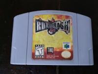 Road Rash 64 (gray cartridge) Box Art