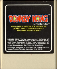 Donkey Kong (Coleco Cartridge) Box Art