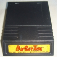 BurgerTime (yellow label) Box Art
