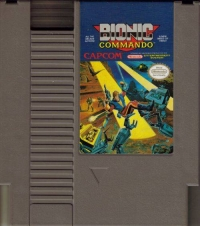 Bionic Commando (oval seal) Box Art