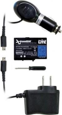 DreamGear Power Pak 3 In 1 Bundle for DS Lite (Black) Box Art