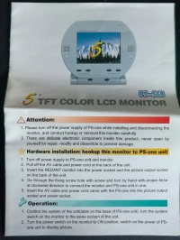 5inch TFT Color LCD Monitor PS-568 Box Art