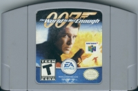 007: The World Is Not Enough (gray cartridge) Box Art