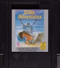 Bible Adventures (black cartridge) Box Art