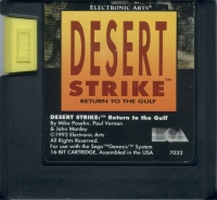 Desert Strike: Return to the Gulf (USA Cart) Box Art