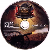 Ageod's American Civil War: 1861-1865: The Blue and the Gray (jewel case / slipcover) Box Art