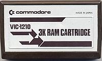 Commodore 3K RAM Cartridge Box Art