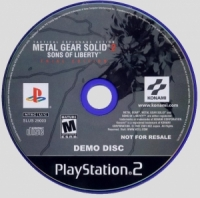 Metal Gear Solid 2:  Sons of Liberty - Trial Edition Box Art