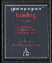 Bowling (Red Text Label) Box Art