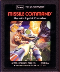 Missile Command (Sears Picture Label) Box Art