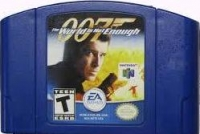 007: The World is Not Enough (blue cartridge) Box Art
