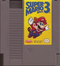 Super Mario Bros. 3 (Bros. above Mario's head) Box Art