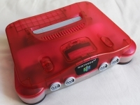 Nintendo 64 (Clear Red) Box Art
