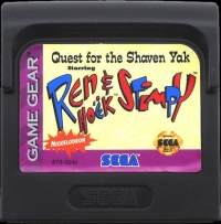 Quest for the Shaven Yak starring Ren Hoëk & Stimpy Box Art