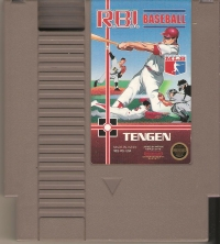 R.B.I. Baseball (gray cartridge) Box Art