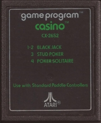Casino (Text Label) Box Art
