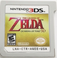 Legend of Zelda, The: Ocarina of Time 3D - Nintendo Selects Box Art