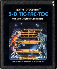3-D Tic-Tac-Toe (picture label) Box Art