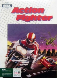 Action Fighter (green label) Box Art