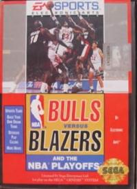 Bulls Versus Blazers and the NBA Playoffs Box Art
