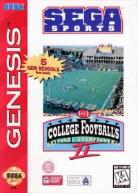 College Football's National Championship II Box Art