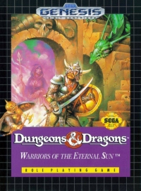 Dungeons & Dragons: Warriors of the Eternal Sun Box Art