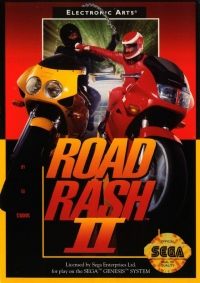 Road Rash II Box Art