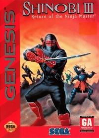 Shinobi III: Return of the Ninja Master Box Art