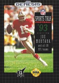 NFL Sports Talk Football '93 starring Joe Montana and all 28 NFL Teams (670-2321) Box Art