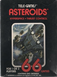 Asteroids (Sears Text Label / 66 Games) Box Art