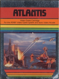 Atlantis (Silver One or Two Player Text Label) Box Art