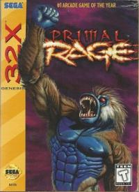 Primal Rage Box Art