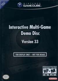 Interactive Multi-Game Demo Disc Version 33 Box Art