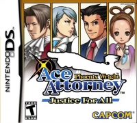 Phoenix Wright: Ace Attorney - Justice For All Box Art