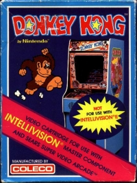 Donkey Kong (not for use with Intellivision II) Box Art