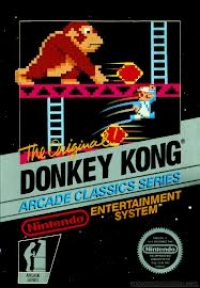 Donkey Kong - Arcade Classics Series (3 Screw Cartridge) Box Art